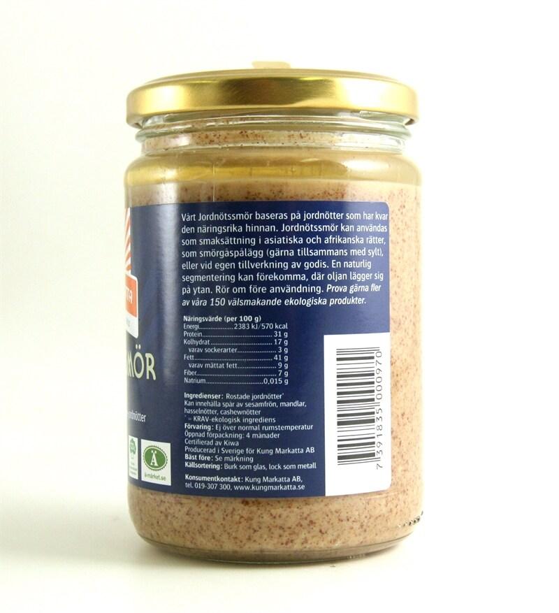 jordnötssmör utan salt