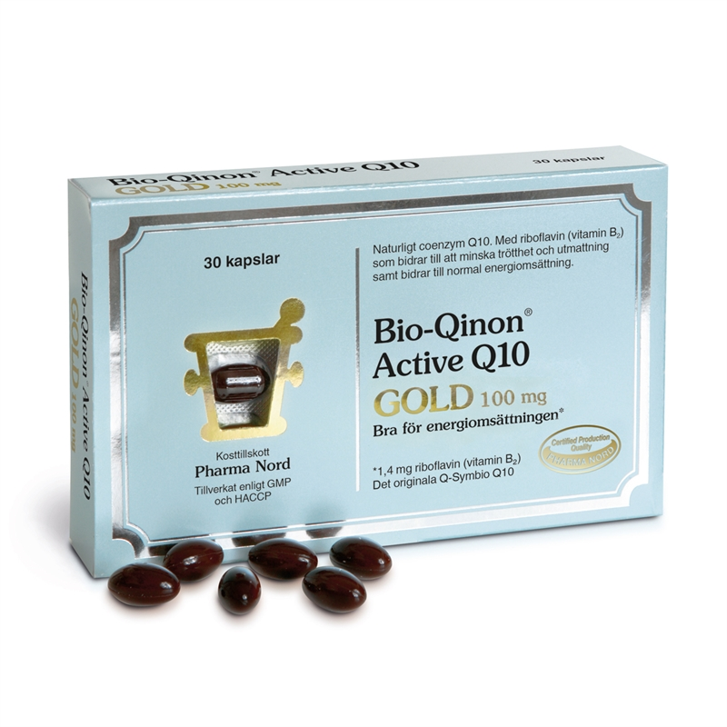 Bio-Qinon Active Gold 100mg 30 kapslar